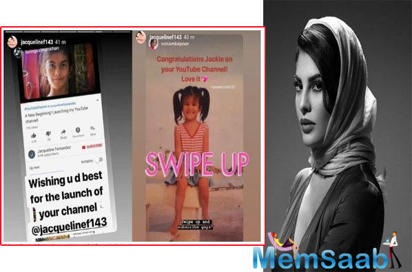 Sonam Kapoor too congratulating Jacqueline and posted an Insta story and wrote,
