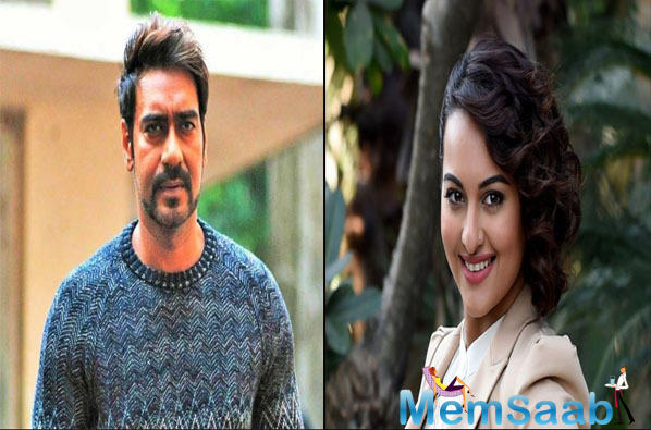 Ajay Devgn and Sonakshi Sinha's prayer before the battle