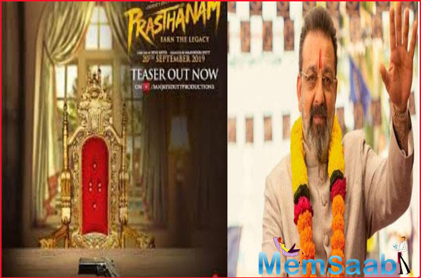 Sanjay Dutt's performance in the teaser of Prasthanam make his fans go gaga over his upcoming movie. The actor is showered with praises on Twitter