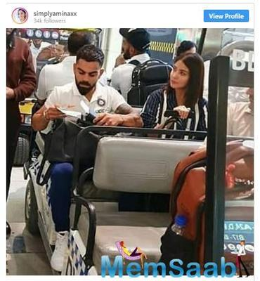 Virat-Anushka spotted at the miami airport as team India reach Florida for T20 games against West Indies