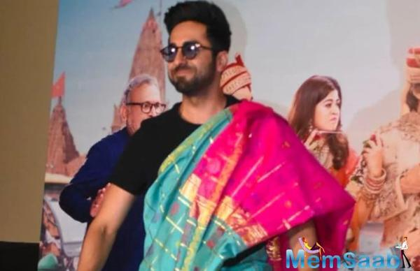 Ayushmann Khurrana was scared to drape a saree on the first day of Dream Girl