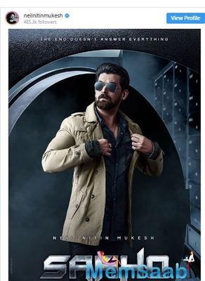 Saaho: Neil Nitin Mukesh reveals he was worried about being replaced in Prabhas & Shraddha Kapoor starrer