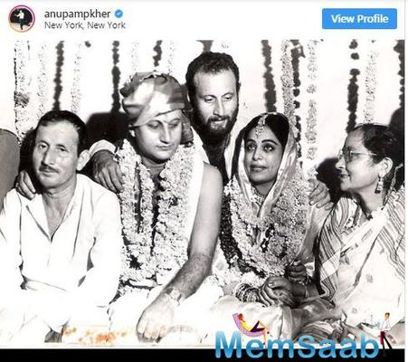 Anupam Kher shares throwback photo to wish wife Kirron Kher on wedding anniversary