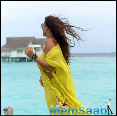Birthday girl Neha Dhupia is having the time of her life with hubby Angad Bedi in Maldives