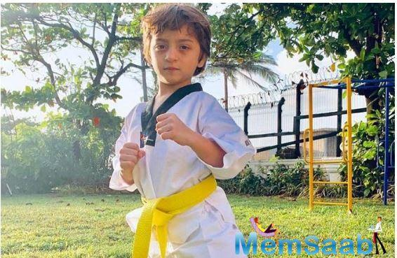 Shah Rukh Khan, whose other two children -- Suhana and Aryan -- are also trained in the Korean martial arts.