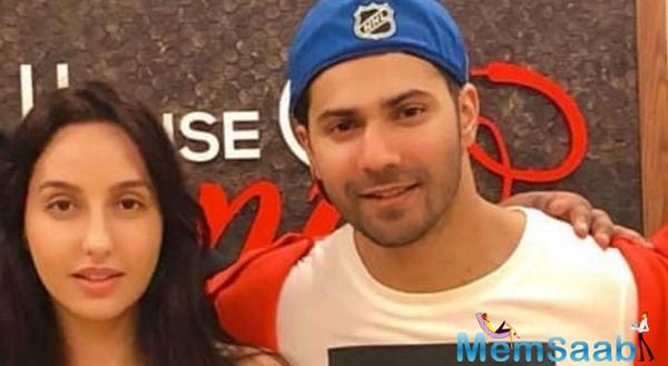 See Photo: Varun Dhawan's 'garam romance' with Nora Fatehi