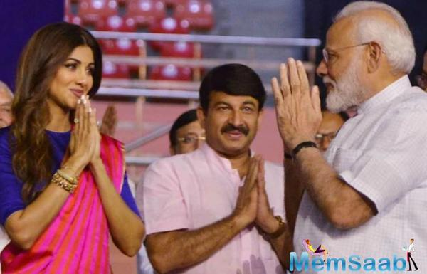 Shilpa Shetty joins PM Narendra Modi to make India fit