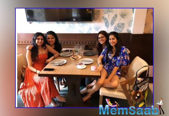 Whenever Janhvi Kapoor gets some time off from her busy schedules, she makes sure to spend it with friends and family.