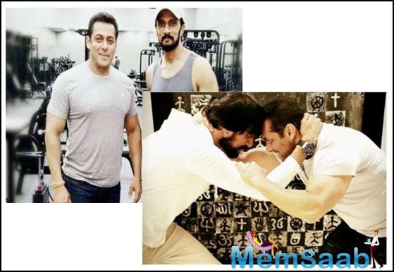 'Dabangg 3': Salman Khan preps for shirtless climax sequence with Kiccha
