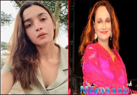 """The actress shared the photo and captioned,""""#AliaBhatt looks exactly like her mother #Soni Razdan. Here is proof. Still from #Mandi"""