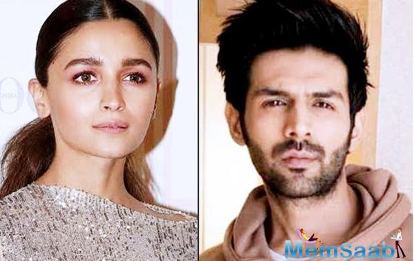 Will Alia Bhatt romance Kartik Aaryan in Sanjay Leela Bhansali's Gangubai?