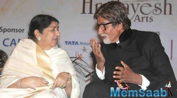 Lata Mangeshkar sings Amitabh Bachchan's praises