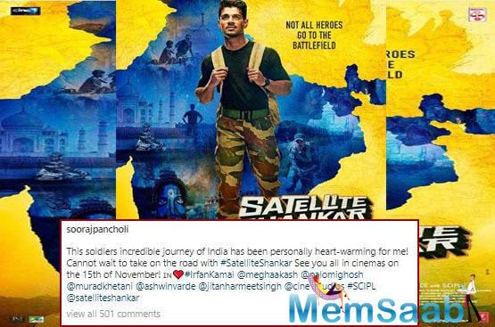 Sooraj Pancholi looks ready for action in Satellite Shankar