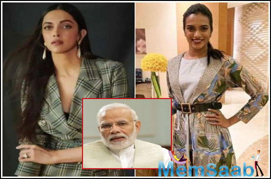 Indian shuttler PV Sindhu and Bollywood actress Deepika Padukone have come out in support of Prime Minister Narendra Modi's 'Bharat Ki Laxmi' movement which aims at promoting women empowerment in the country.