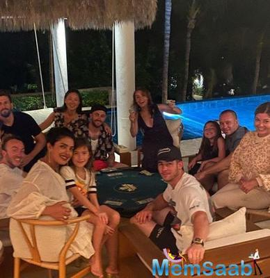 Earlier, Priyanka shared a few other pictures of the celebratory night on the photo-sharing application. One of the photos featured Priyanka with her friends.