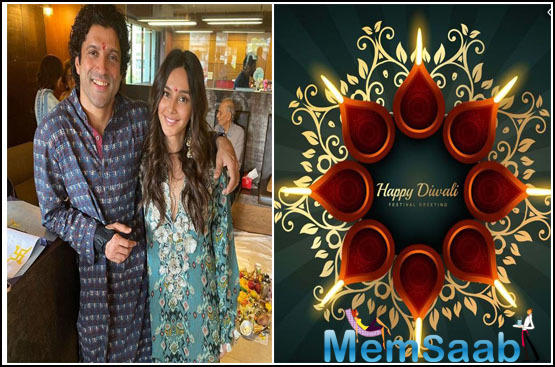 Diwali 2019: Farhan Akhtar and Shibani Dandekar bring in the festival together with his family