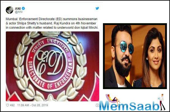 Shilpa Shetty's Husband Raj Kundra Summoned by ED in money laundering case