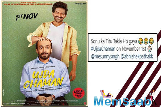Now, as Sunny Singh's next film, 'Ujda Chaman' is all set to release in coming days, friend-actor Kartik Aaryan featured in one of the posters of the film in order to promote the film.