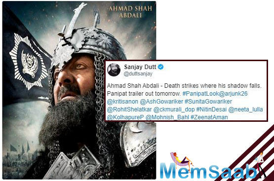 The first look poster of Sanjay Dutt as Ahmad Shah Abdali in Panipat, check it out!