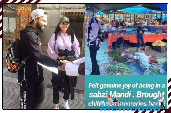 View pics: Anushka Sharma and Virat Kohli go vegetable shopping in Bhutan