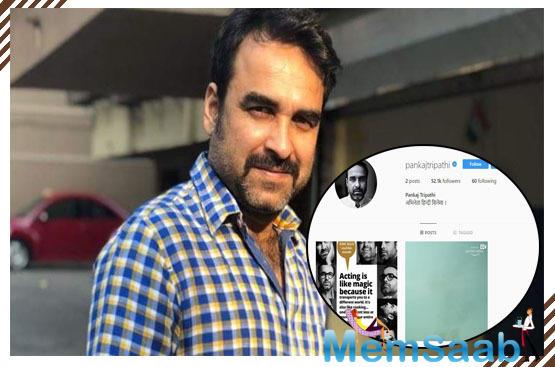 Pankaj Tripathi joins Instagram to teach lesson to trolls