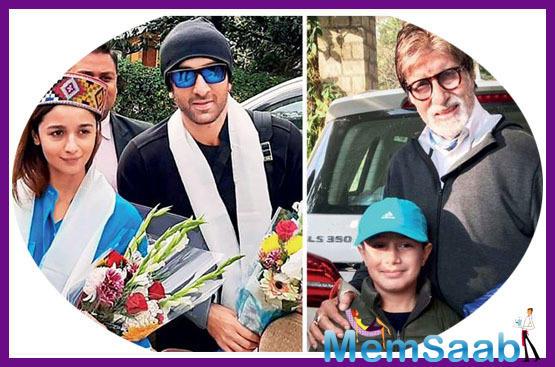 Amitabh Bachchan joins Ranbir Kapoor and Alia Bhatt in Manali in 'Brahmastra'