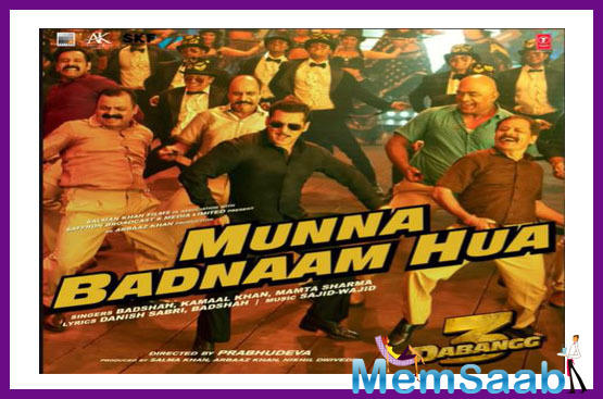 The audio unit of Munna Badnaam has received a lot of appreciation from fans ever since it was released. The makers of Dabangg 3 are keeping up the hype for the movie by treating the fans with songs from the movie.