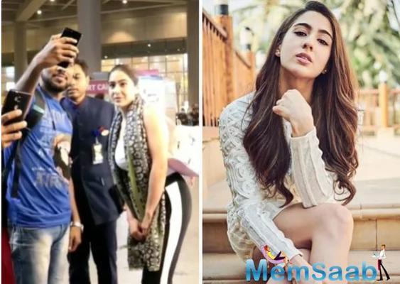 Sara Ali Khan's fan crosses the line
