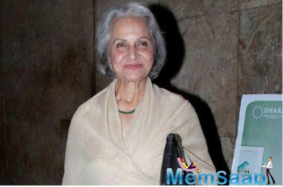 Waheeda Rehman: Rapists deserve life imprisonment, not death
