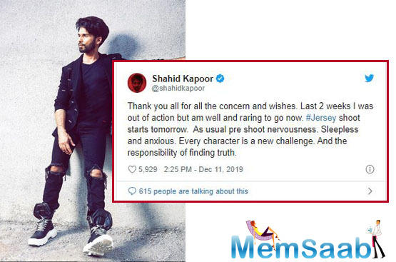 Shahid Kapoor was last seen in much-talked about film Kabir Singh, which featured Kiara Advani as well.