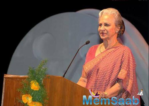 Waheeda Rehman: Used to carry small camera on the sets