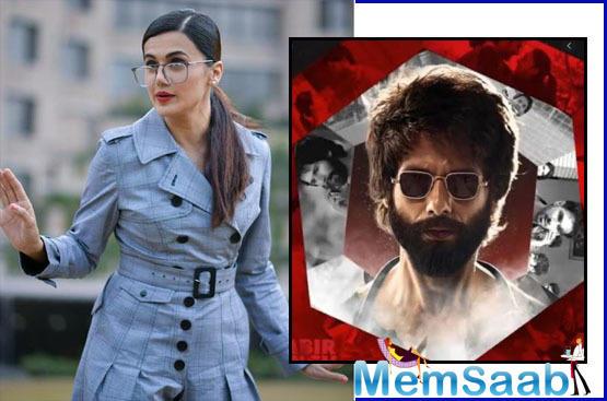 Taapsee Pannu: I didn't want to watch Kabir Singh 'after watching Arjun Reddy'