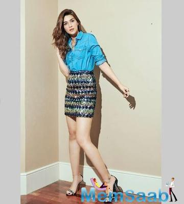 Take a look: Kriti Sanon looks pretty as she teams a shimmery skirt with a denim skirt