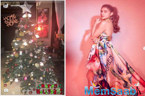 Sara Ali Khan is all Christmas ready and her latest Instagram post is proof!