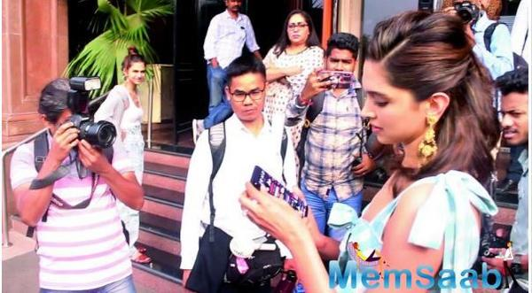 Deepika Padukone gets candid during the promotion of Chhapaak