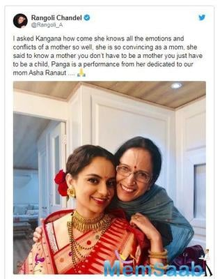 In the movie Panga, we will see Kanaga Ranaut dawn on the role of a mother. The trailer of the movie was released recently and it has been garnering a lot of appreciation ever since.
