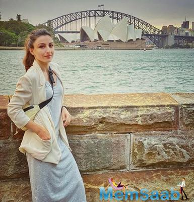Soha Ali Khan, holidaying in Sydney with family