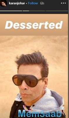 Karan Johar, the director of the Indian period drama, shared some moments through his Instagram story from their Rajasthan trip on Sunday.