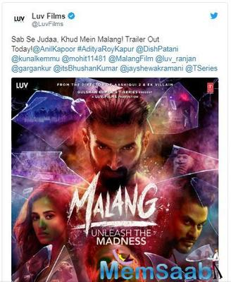 Malang's new poster out; Trailer to be launched today