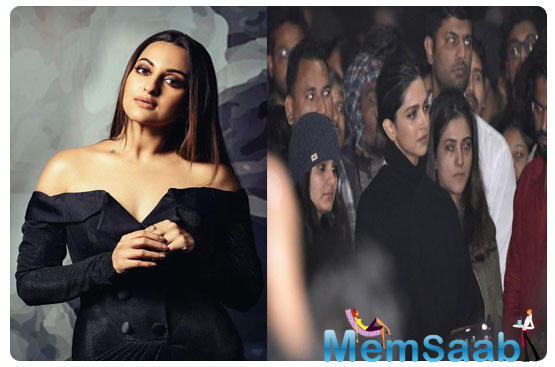 Sonakshi Sinha comes in support of Deepika Padukone; says 'This is not the time to stay quiet'