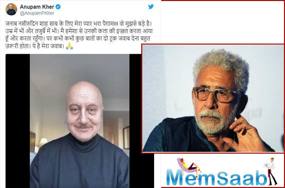Naseeruddin Shah recently called Anupam Kher a