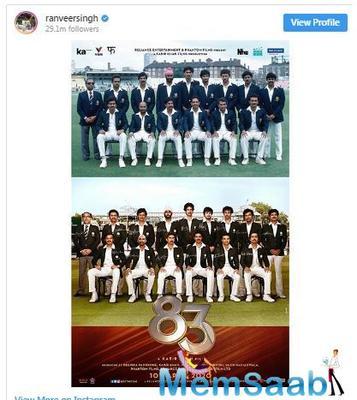 83 Poster: Ranveer Singh introduces his World Cup winning team