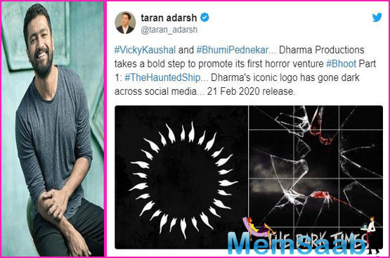 Dharma productions undergoes a major change for Vicky Kaushal's Bhoot Part 1: The Haunted Ship