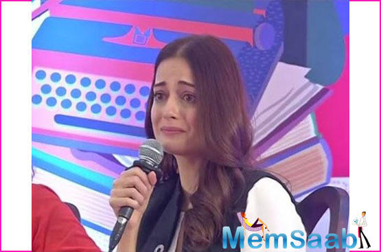 Dia Mirza gets emotional at Jaipur Literature Festival