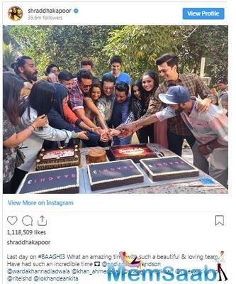 Baaghi 3: Shraddha Kapoor announces the film's wrap-up with an emotional post