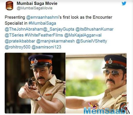 'Mumbai Saga' first look: Emraan Hashmi as encounter specialist is all set to impress the fans