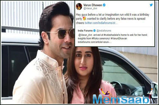 Why did Varun Dhawan and Natasha Dalal meet each other's Families? See here what Varun explains!