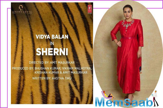 Vidya Balan: Thrilled to announce my next film 'Sherni', can't wait to start the shoot