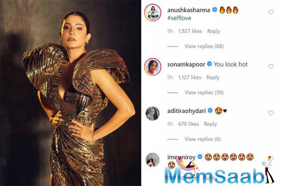 Thoroughly impressed with the photos, fans and friends of the star quickly flooded her comments section, commending her for her stunning looks and her gorgeous dress.