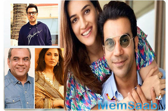 Dimple Kapadia-Paresh Rawal will play 'adopted' parents of Rajkummar Rao-Kriti Sanon in Dinesh Vijan's upcoming situational comedy